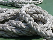 Boat ropes. Ropes on a boat Royalty Free Stock Photography