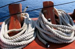 Boat ropes Royalty Free Stock Image