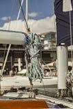 Boat ropes bundle Stock Photos