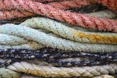 Boat ropes Royalty Free Stock Photos