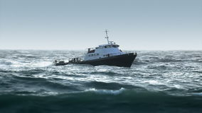 Boat in Rough Seas - Heading to Port stock video