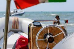 Boat with rudder Stock Image