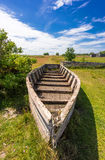 Boat ruine in Sweden. Near coast Royalty Free Stock Photo