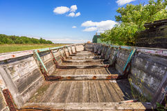 Boat ruine in Sweden Stock Images