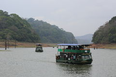 Boat Safari at Periyar Stock Photo