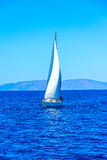 Boat with a sail Royalty Free Stock Photography