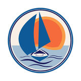 Boat sailboat logo stock photography