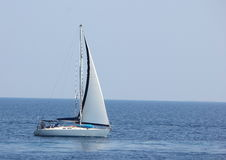 Boat. A boat sailing across from Skiathos island Royalty Free Stock Images