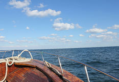 Boat sailing in the Black Sea - detail 1 Royalty Free Stock Photography