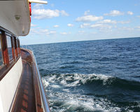 Boat sailing in the Black Sea - detail 5 Stock Photography