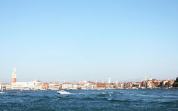 Boat sailing in the Gulf of Venice 11. Boat sailing in the Venetian Lagoon Stock Photography