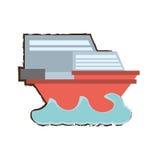 Boat sailing icon image Stock Image