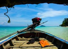 Boat sailing at Koh Bulone island beach Stock Photo