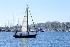 Sailing at Marina Del Rey, California royalty free stock photos