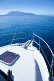 Boat sailing in Mediterranean sea Stock Photography