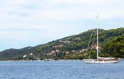 Boat sailing 4. Boat sailing near Skiatos, Greece Royalty Free Stock Photography