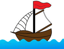 Boat. The sailing on the Sea Royalty Free Stock Image