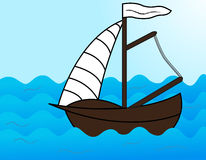 Boat. The sailing on the Sea Royalty Free Stock Photos