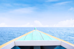 Boat sailing on the sea Royalty Free Stock Photo