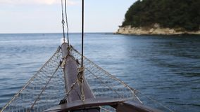 Boat sailing stock video
