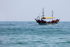 Boat sailing on sea Royalty Free Stock Images