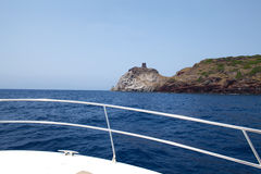 Boat Sailing To Capraia Island Royalty Free Stock Photos