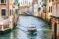 Boat sailing in Venice Royalty Free Stock Image