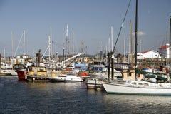 Boat and sails Marina Royalty Free Stock Images