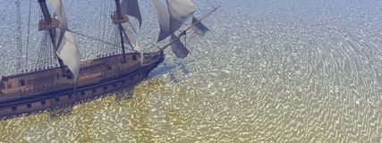 A boat with sails Royalty Free Stock Photos