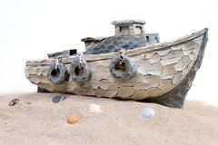Boat in the sand Royalty Free Stock Photography