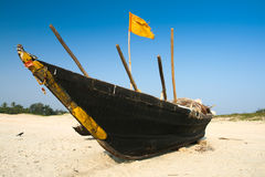 Boat on the sand Royalty Free Stock Images