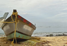 Boat in Sand Royalty Free Stock Image