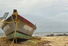 Boat at Beach. Fisherman Boat in Caribbean Beach Royalty Free Stock Image