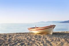 Boat on the Sand Royalty Free Stock Photo