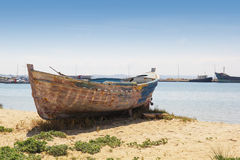 Boat on the Sand Royalty Free Stock Photography