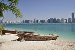 Boat on the sandy shore. Stock Image