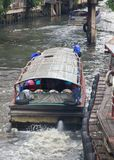 The boat on sansab canal in bangkok Stock Photography