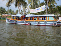Boat for school children in India Stock Photo