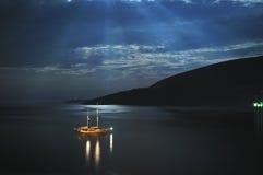 Boat on sea Royalty Free Stock Photos