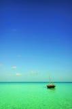 Boat at sea royalty free stock image
