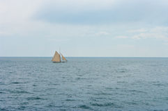 A boat in the sea Royalty Free Stock Photography