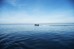 Boat at-sea royalty free stock images