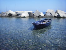 Boat in sea royalty free stock photo