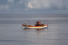 A boat at sea Royalty Free Stock Images