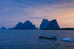 Boat on the sea. In Southern of Thailand Royalty Free Stock Image