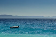Boat at an open sea, Croatia Stock Image