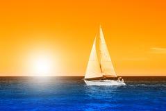 Boat at sea Stock Photos