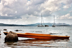 Boat on the sea Royalty Free Stock Images