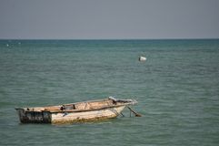 Boat in the sea. Small boat in sea Royalty Free Stock Image