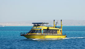 Boat on the sea. Boat on the Red sea stock photo